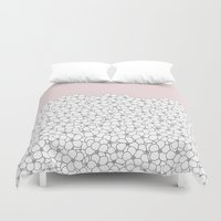 Forget Pink Boarder 2 Duvet Cover