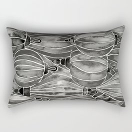 Black Vietnamese Lanterns Rectangular Pillow