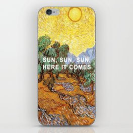 Here Comes the Yellow Sky and Sun iPhone Skin