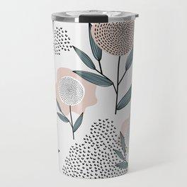 Retro Floral Pattern 1 Travel Mug