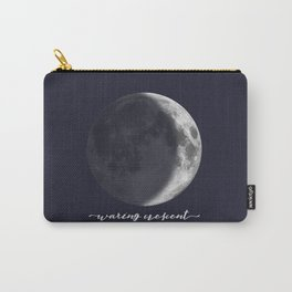 Waxing Crescent Moon on Navy - English Carry-All Pouch