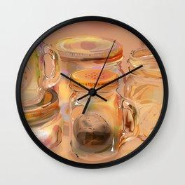Mason Jars Wall Clock