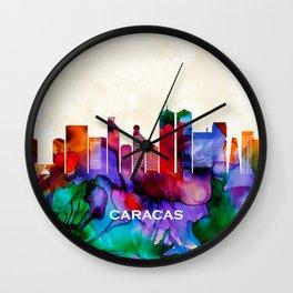 Caracas Skyline Wall Clock