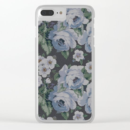 Floral Mozaic Pattern Clear iPhone Case