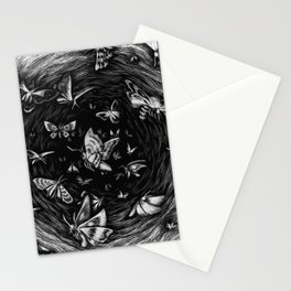 Scratchboard #10 - Moths Stationery Cards