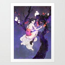 A Flight in the Night Art Print