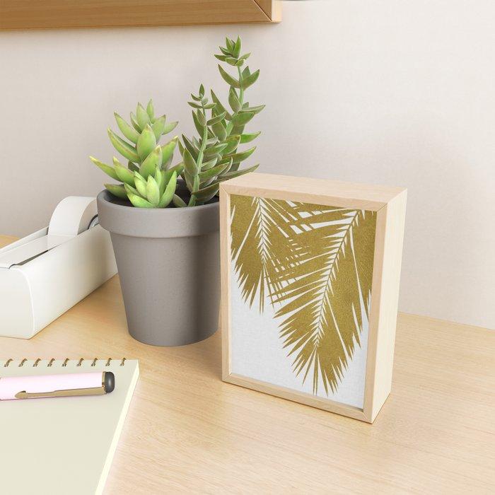 Palm Leaf Gold II Framed Mini Art Print