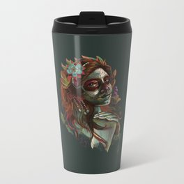 Day of the Dead Girl Metal Travel Mug