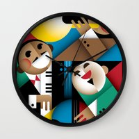 jazz Wall Clocks featuring Jazz by Szoki