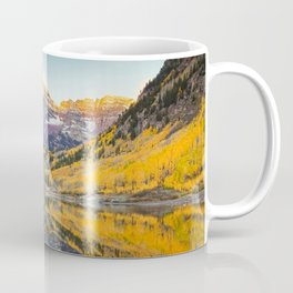 Maroon Bells Autumn Sunrise Aspen Colorado Mountain Fall Landscape Coffee Mug