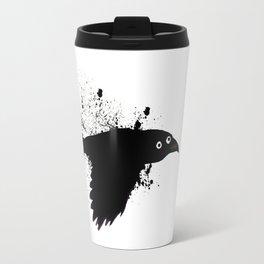 black crow flying ink Travel Mug