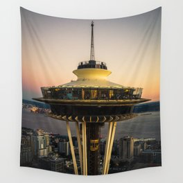 Space Needle (close-up) Wall Tapestry