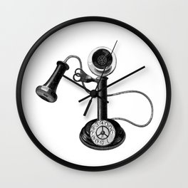 Old telephone Wall Clock