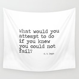 What would you attempt Wall Tapestry