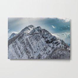 Fatigue Mountain in Banff, Alberta Metal Print