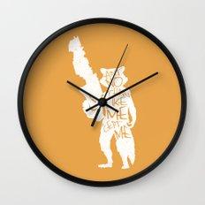 What's a Raccoon? Wall Clock