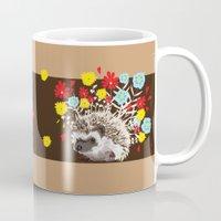 hedgehog Mugs featuring hedgehog by Caracheng