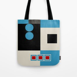 Abstract in Blue, Black, Red and Beige. See Companion Piece Tote Bag