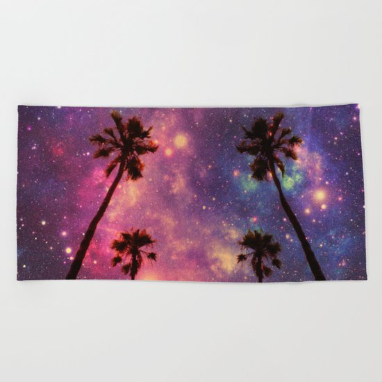 magical palms Beach Towel