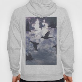 crows in the stormy sky Hoody