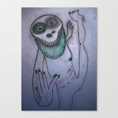 Dancing frog Canvas Print