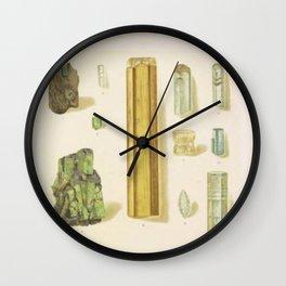 Emerald And Aquamarine Wall Clock