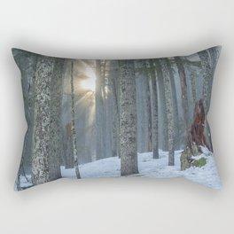 Woods on a Winter's Day Rectangular Pillow