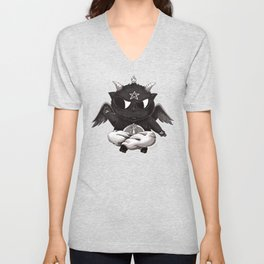 Black Cathomet Unisex V-Neck