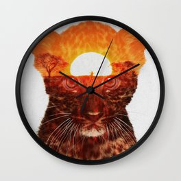 Leopard Cub Wall Clock