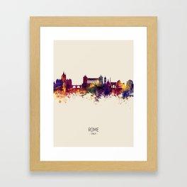 Rome Italy Skyline Framed Art Print