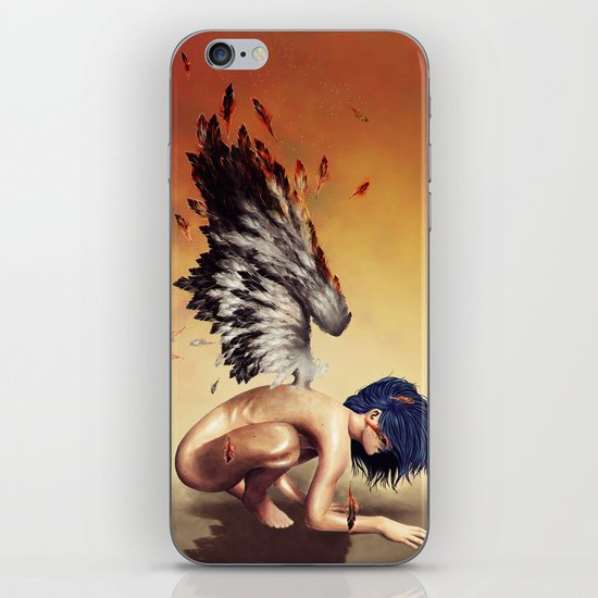 Fallen angel iPhone & iPod Skin