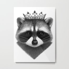 King raccoon Metal Print