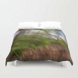 Abstract Forest Streaks Duvet Cover
