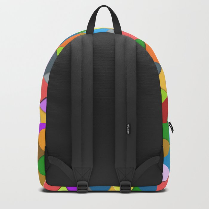 Colorful triangle galore geometric pattern Backpack