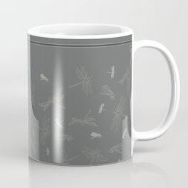 Dragonfly Pattern on Warm Grey Coffee Mug