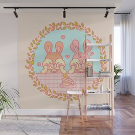 Mono y Monono Pastel Wall Mural