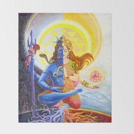 Shiva and Shakti Throw Blanket