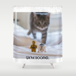 We're Doomed... (wide) Shower Curtain