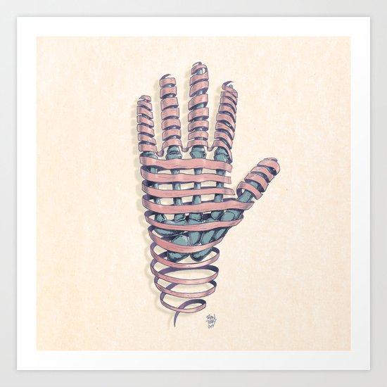 Hand Ribbon Art Print