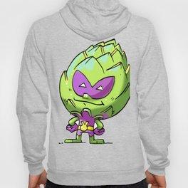 Artichoke Alien Foodietoon Veggie Superheroes Hoody
