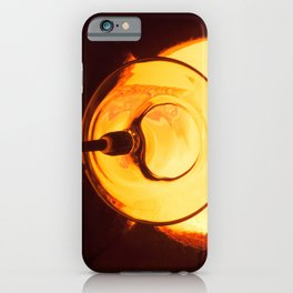 Glass blowing with a hot Glory Hole iPhone Case