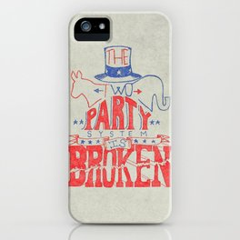 The Two Party System iPhone Case