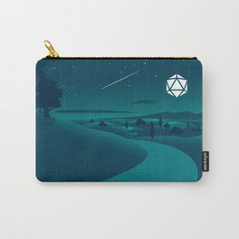 Countryside Road Night Shooting Star D20 Dice Moon Tabletop RPG Landscape Carry-All Pouch