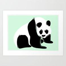 Rough Panda Art Print