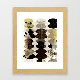 Typography abstract, sepia art, modern mid century, Graphic art, neutral colors, geometric art, circ Framed Art Print