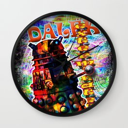 Dalek - Exterminate! by Mark Compton Wall Clock