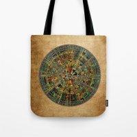 calendar Tote Bags featuring Ancient Calendar by Klara Acel