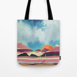 Pink Desert Glow Tote Bag