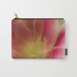 Abstract Pink, Yellow, White Lily-Fleur Blur Series Carry-All Pouch