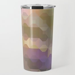 Soft Colored Rainbow Geometric Design Travel Mug